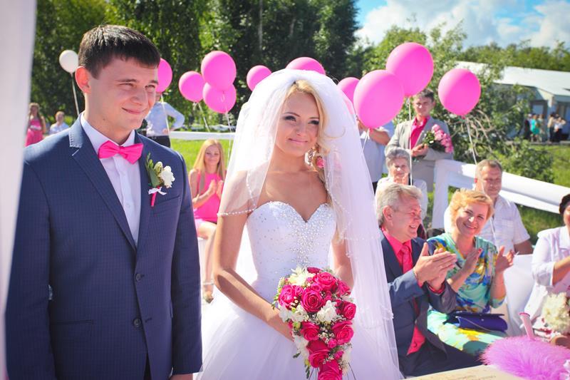 """6\""""Розовая \"""" свадьба 2014 с Резиденцией - Роман и Виктория Воробьёвы"""