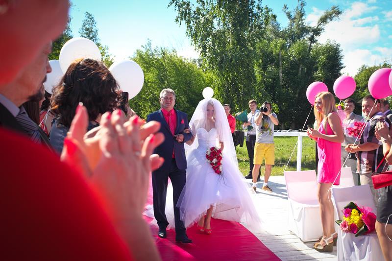 """3\""""Розовая \"""" свадьба 2014 с Резиденцией -Роман и Виктория Воробьёвы"""