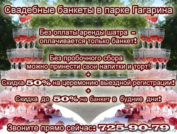 Svadba v shatrah v parke Gagarina