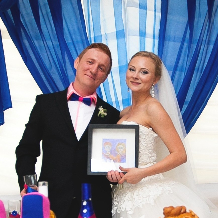 Свадьба на озере, Анна и Слава Сандак