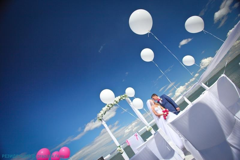 Свадьба в розовом цвете, свадьба на озере
