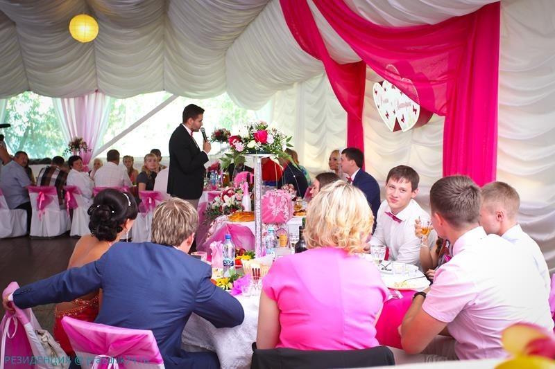 Свадьба в розовом, свадьба  на озере,