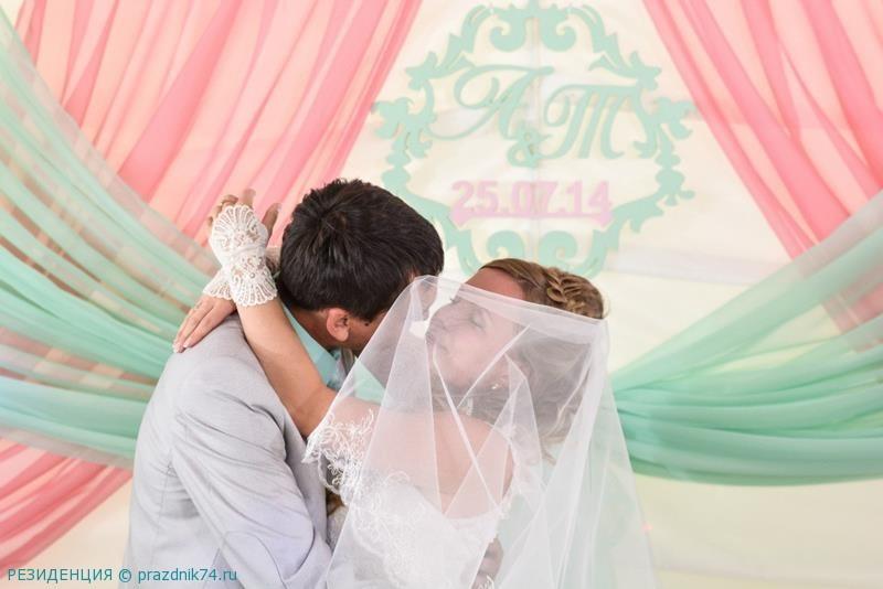 Свадьба в  мятно-розовых тонах