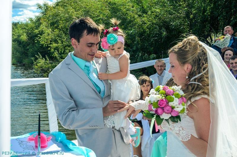 Свадьба на озере, свадьба на природе