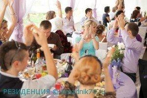свадьба в шатре, лавандовый цвет свадьбы